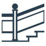 Glas Geländer Icon