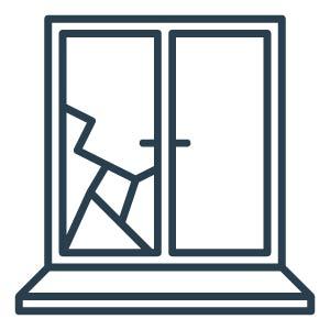 Glas Versicherungsschäden Icon