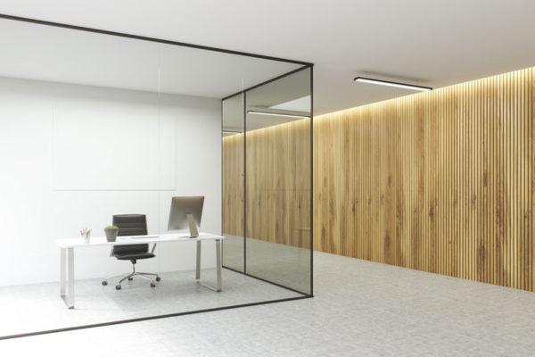Glas Wand Büro
